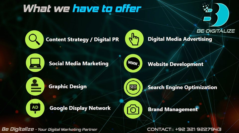 With Be Digitalize we partner the presence of your products and services  in the Digital World  #DigitalMarketing #OnlineMarketing #BeDigitalize #Contentmarketing #websitedevelopment #Programaticbuying #GoogleAds #adwords #SEO #socialmedia #Socialmediaadvertising<br>http://pic.twitter.com/FkxzOvY0nt