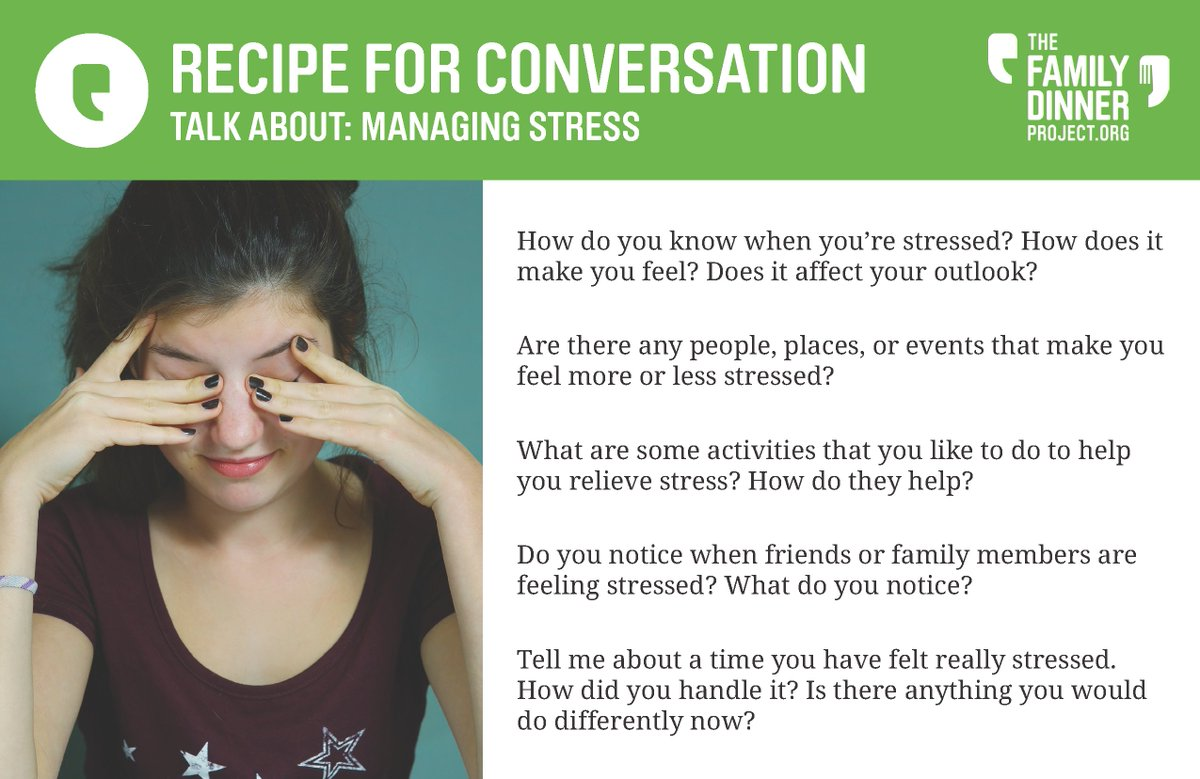 Feeling stressed lately? #Parents and #kids might both be feeling some unusual strain these days. Talk about it - and how to feel better - with these #conversationstarters. #parentinginlockdown #weavingcommunity #conversation #mentalhealthpic.twitter.com/EXhOIDqcxT