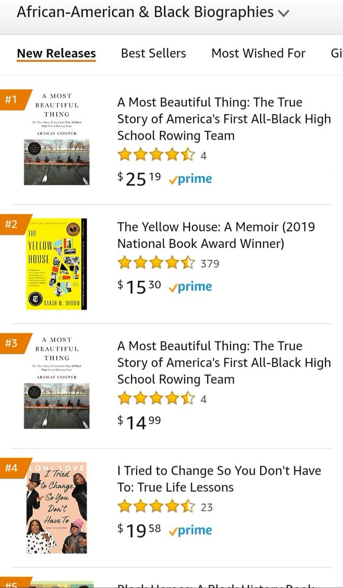 Congrats to @arshaycooper on the release of his new book, #AMostBeautifulThing.  I ordered mine from @amazon on 6/29, but I'm still waiting to receive it.  Congrats, my friend. Here's to all the success in the world. https://t.co/KCNFz2CWLQ