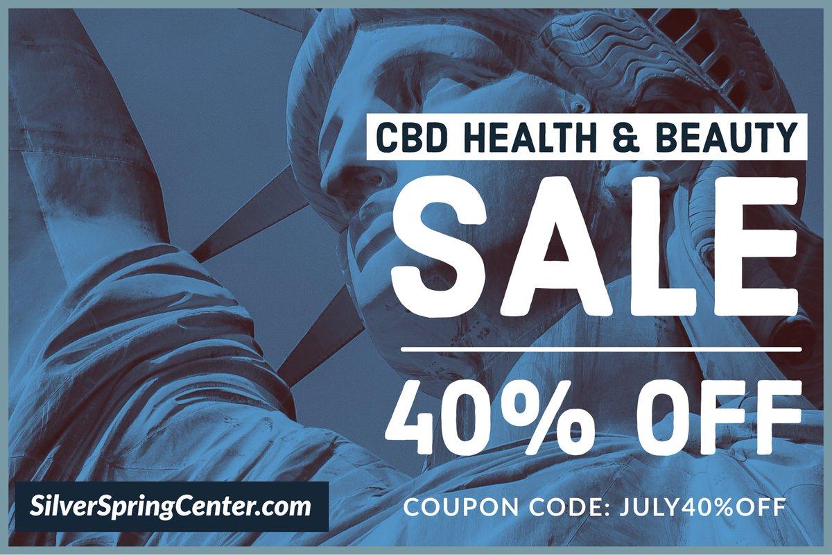 Happy 4th Salute to America  40% Off CBD Health & Beauty w/code: July40%Off   https://www. silverspringcenter.com/shop      #fireworks #freedom #HappyBirthdayAmerica #IndependenceDay #July4th2020 #cbdnearme #cbdislife #hempoil #cbd #hemp #bestcbd #trycbd #cbdoil #cbdheals #CannabisCommunity<br>http://pic.twitter.com/SofLKWiIu6