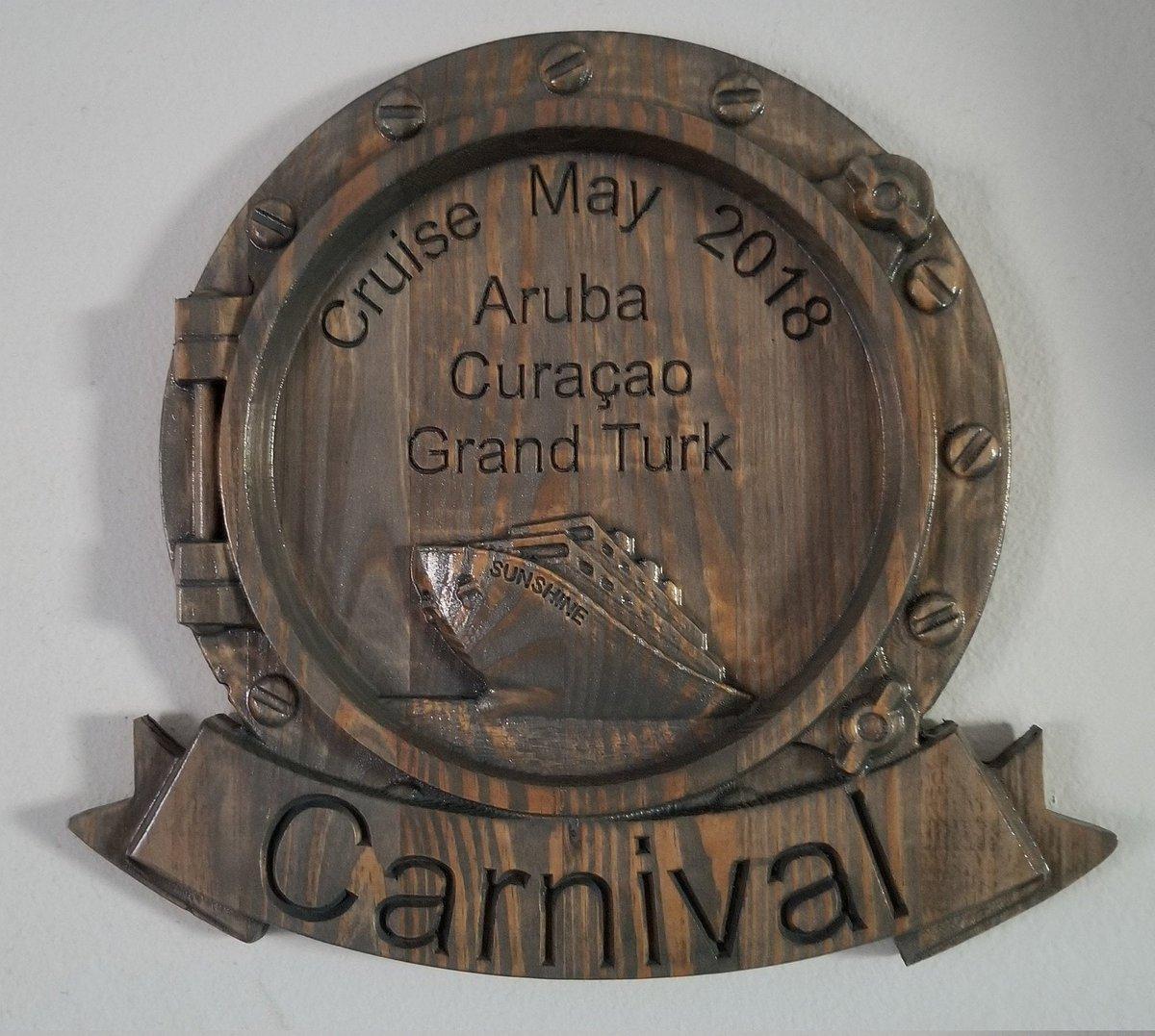 NEW!! Cruise Plaque 3D V Carved Wood Plaque Sign  #Homedecor #Handmade #Island