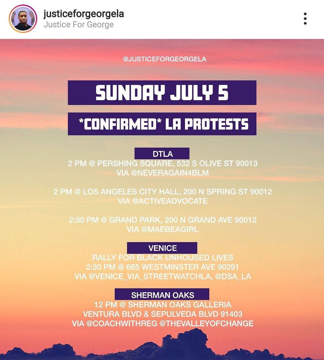 Los Angeles direct actions for Sunday, July 5 Locations: Downtown LA, Venice, Sherman Oaks  https://t.co/2ZOcWdA9HT  #LosAngelesProtest #socalprotest https://t.co/93eJfB0vYT