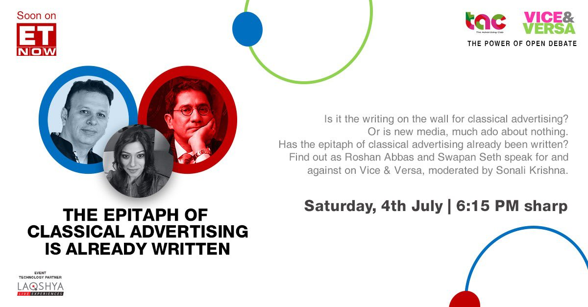 True to word @roshanabbas  & @swapanseth managed to enrich and elevate our Saturday evening with compelling thoughts, though the affable civility in a potentially divisive debate was endearing 😊  Full marks to @sonalikrishna for moderating well & to @TheAdClub_India for a winner https://t.co/DNcgWYnfxr https://t.co/AGApBnrvuO