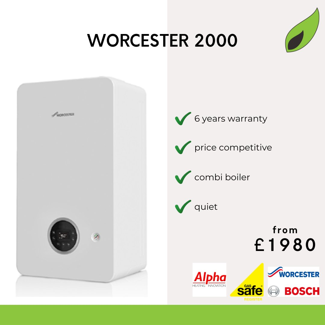 WORCESTER 2000  The Worcester 2000 is our most competitive boiler! It's affordable, quiet and comes with 6 years warranty.  To book your installation: Visit our website Send us a message Call 023 9238 8799  #BoilerServicing #GasEngineer<br>http://pic.twitter.com/BJW0RhNPcp