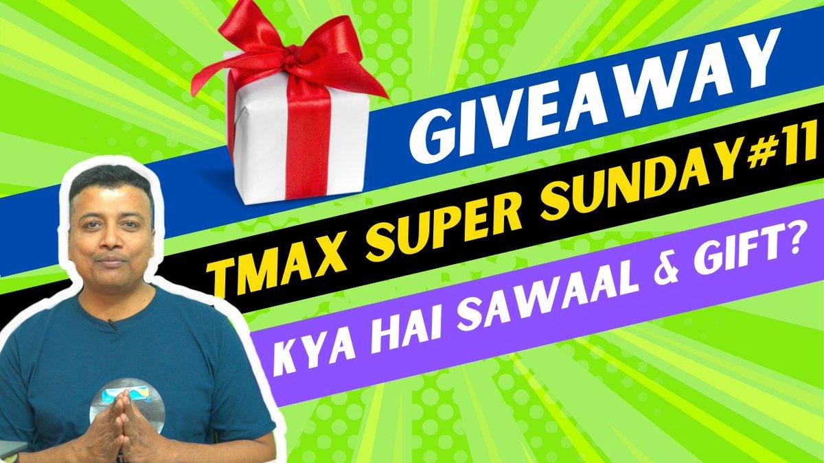Doston 🙏, Aa gaya Giveaway TMAX SUPER SUNDAY#11 !!! Kya Hai aaj ka sawaal? Aur kya hai Giveaway? Dekhiye mere saath. Watch Now: youtube.com/watch?v=GnzRc9… #tmaxtechnical #Giveaway #SundayThoughts #sundayvibes