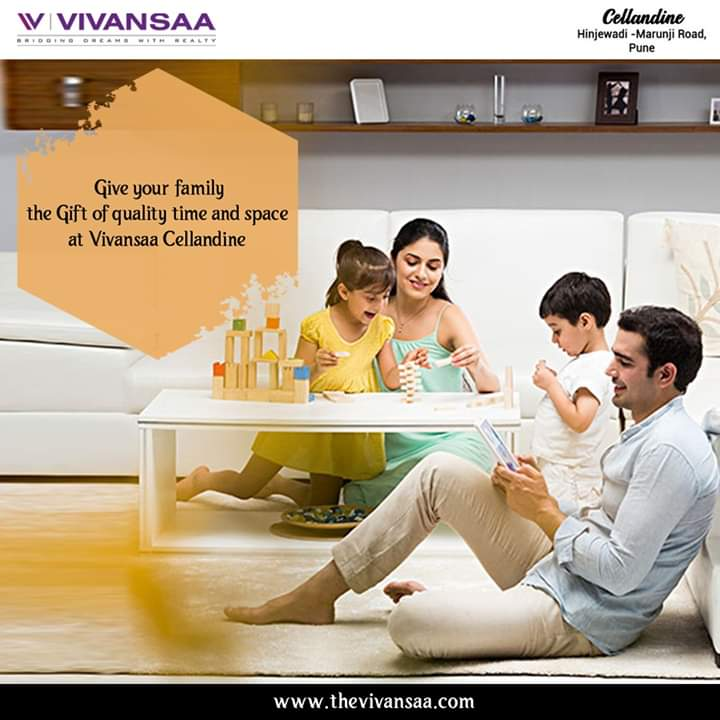 Give your family the gift of quality time and space at Vivansaa Cellandine with spacious and comfortable flats.    #VivansaaCellandine #apartments #family #amenities #bestflats #2bhk #3bhk  #home #premiumapartments #lifestyle #Hinjewadi #Pune #maharashtra