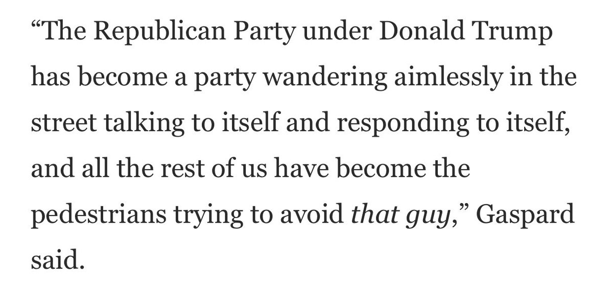 Also this quote from former US ambassador to South Africa @patrickgaspard — which rings with deep irony as Trump essentially solidifies the GOP as an American version of that country's old National (or Nationalist) Party https://t.co/tPJKyfU7N7