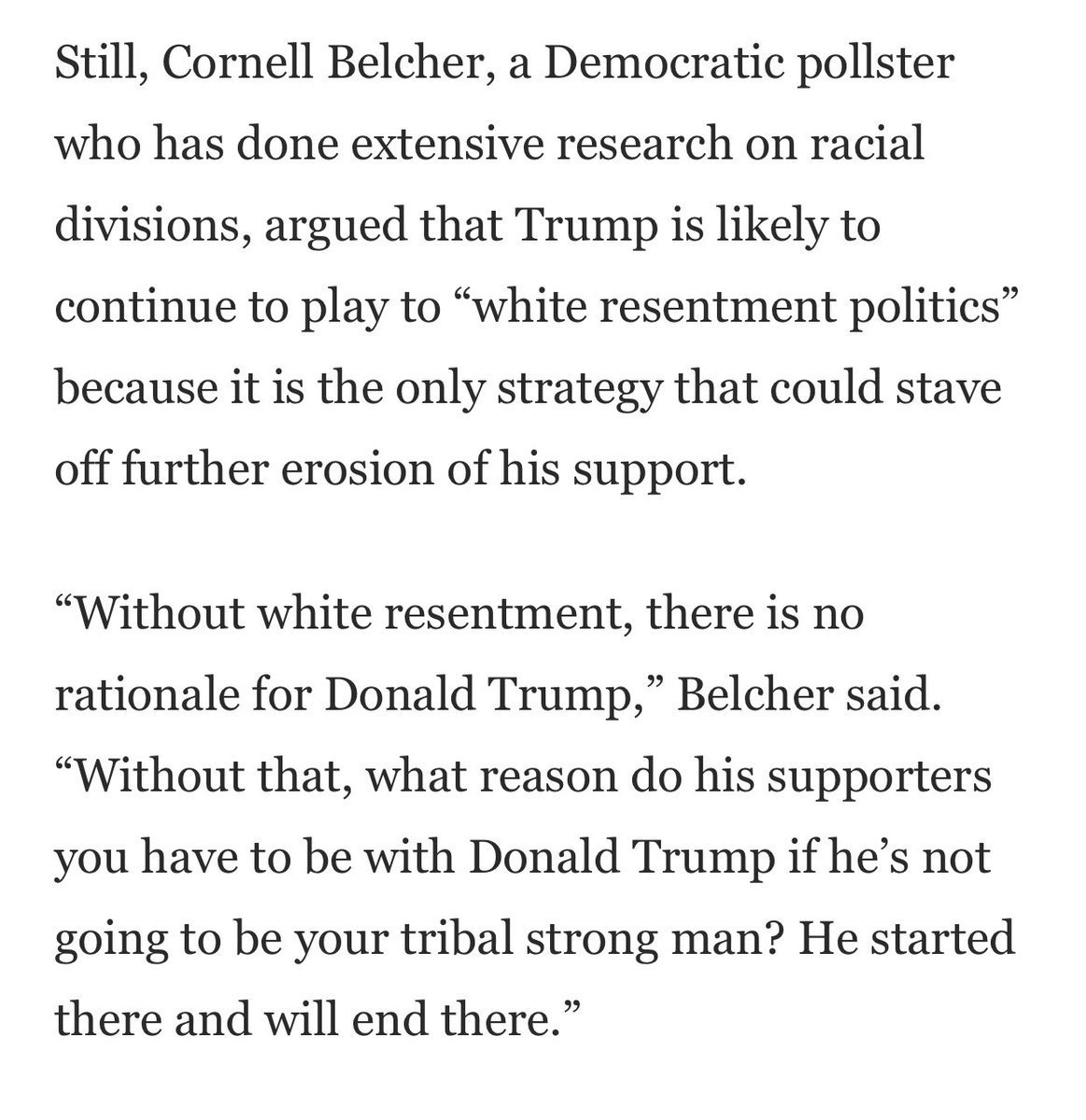 One more quote, from @cornellbelcher: https://t.co/yvQah63a7E
