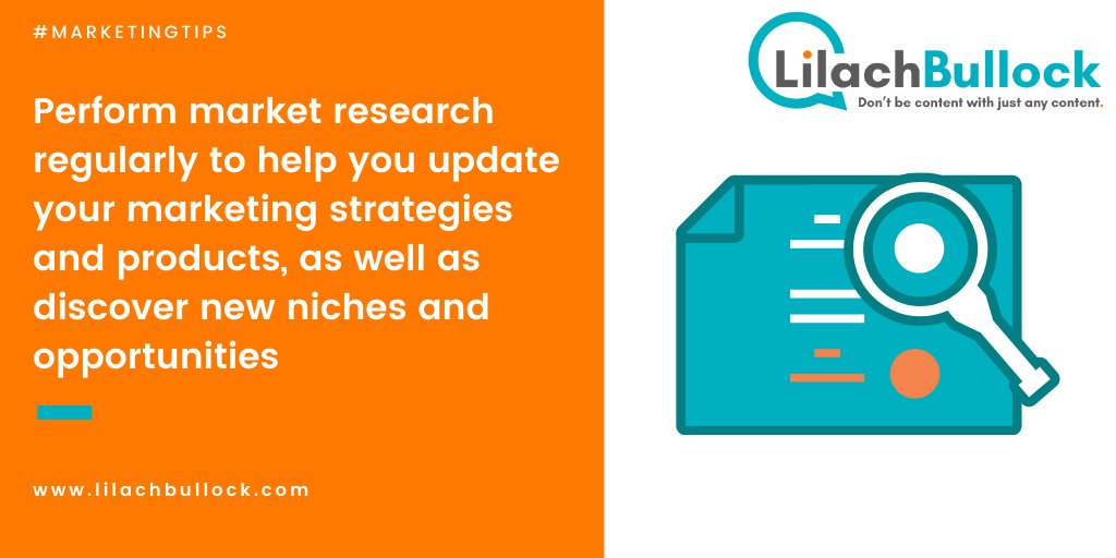 In order to keep growing and scaling your blog, research your industry regularly: #BloggingTips #MarketingTips https://lilach.online/pic.twitter.com/UK53M6YghX