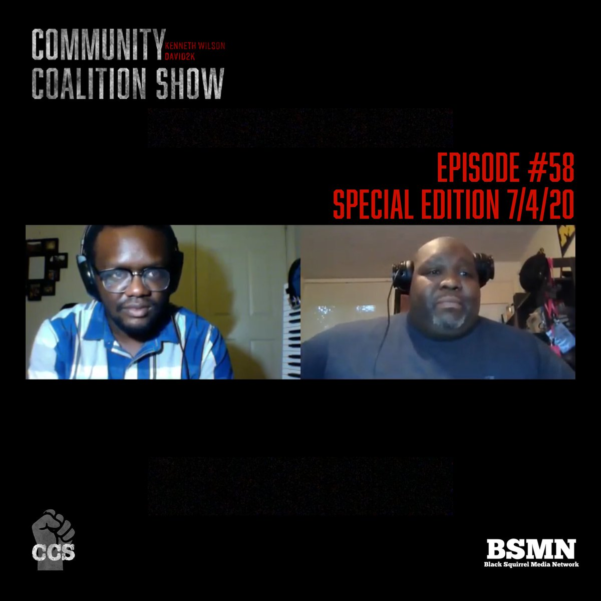We just released a special edition of the Community Coalition Show, as we share our thoughts on being black on Independence Day.   🎥 Watch on our YouTube channel at https://t.co/2Ku5PfSOUr  #communitycoalitionshow #blacklivesmatter #July4th2020 #podcast https://t.co/HVtqS9h0z2