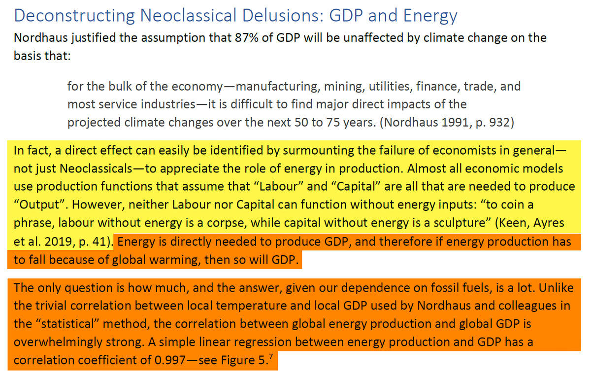 """27/44 8. Deconstructing Neoclassical Delusions: GDP and EnergyAnd now to the """"real"""" factor that is relevant to GDP: energy. Again the quote:""""Labour without energy is a corpse, while capital without energy is a sculpture""""."""