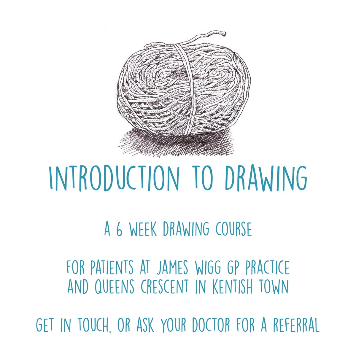 The lovely Cat Andrews is facilitating our new 'Introduction to Drawing' sessions this summer. If you are a James Wigg or QC patient and would like to get involved please speak to your doctor.   #drawing #onlineclasses #london #kentishtown #creativityandwellbeing  @catandrew