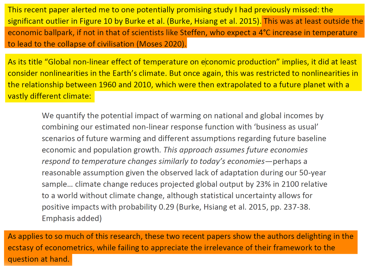 """38/44 And one study that at least considers non-linearity, but still likes extrapolations from the past.""""These 2 recent papers show the authors delighting in the ecstasy of econometrics, while failing to appreciate the irrelevance of their framework to the question at hand."""""""