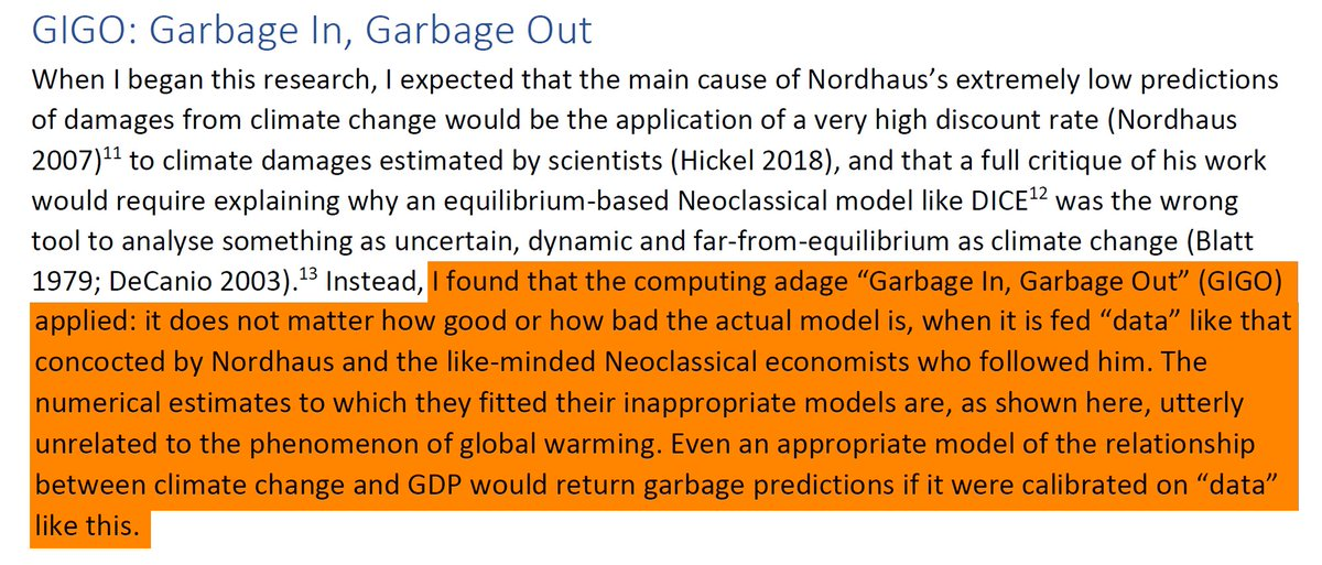 """39/44 11. GIGO: Garbage In, Garbage Out""""The numerical estimates to which they fitted their inappropriate models are, as shown here, utterly unrelated to the phenomenon of global warming."""""""