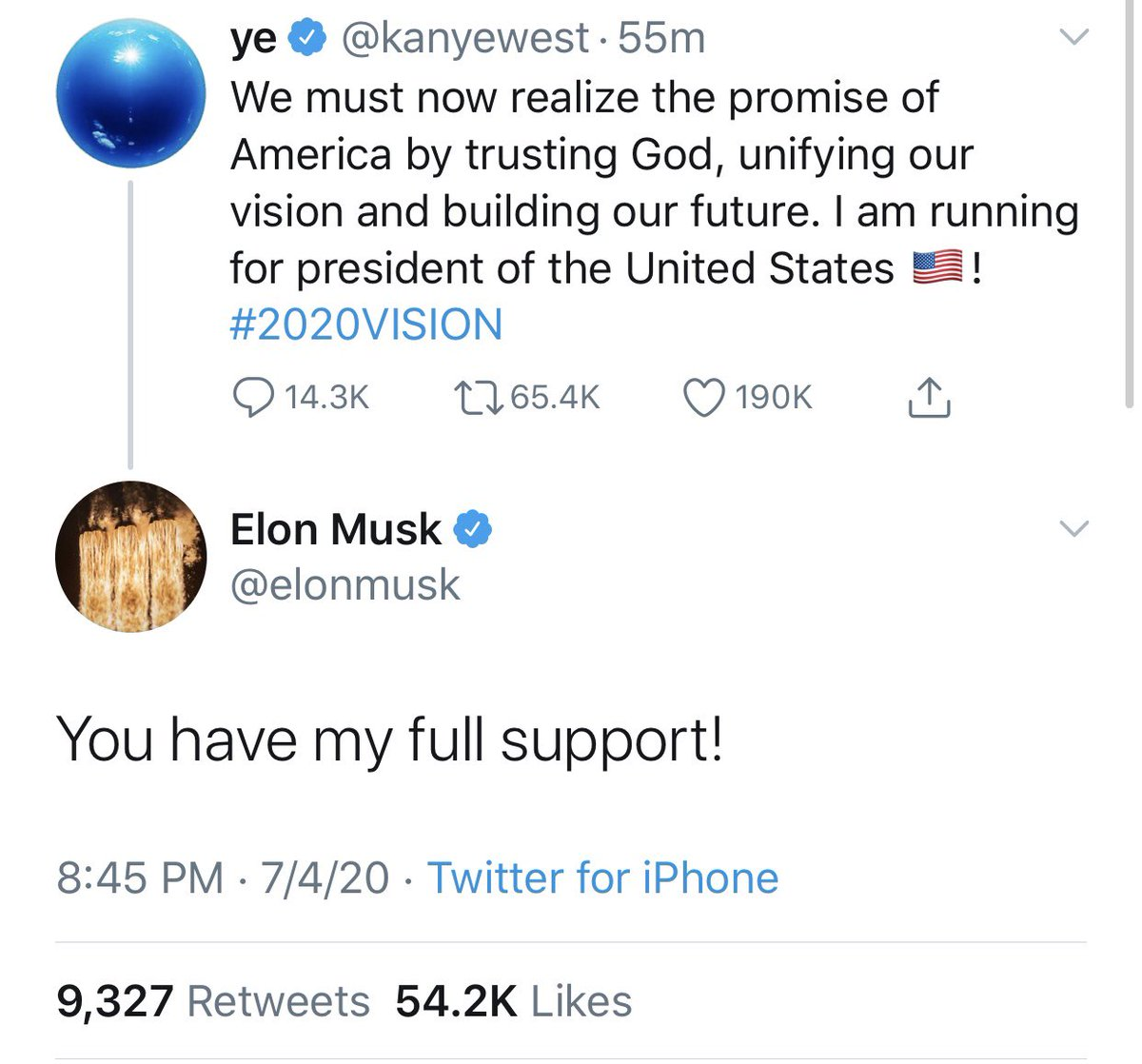 Kanye West and Elon Musk are treating the most consequential election of our lifetime as a joke - consequences their money will shield them from.  We're sick of being trolled by oversized egos.  Step up in a meaningful way to help us defeat Trump or sit down quietly.  #2020Vision https://t.co/LQcErOydB2