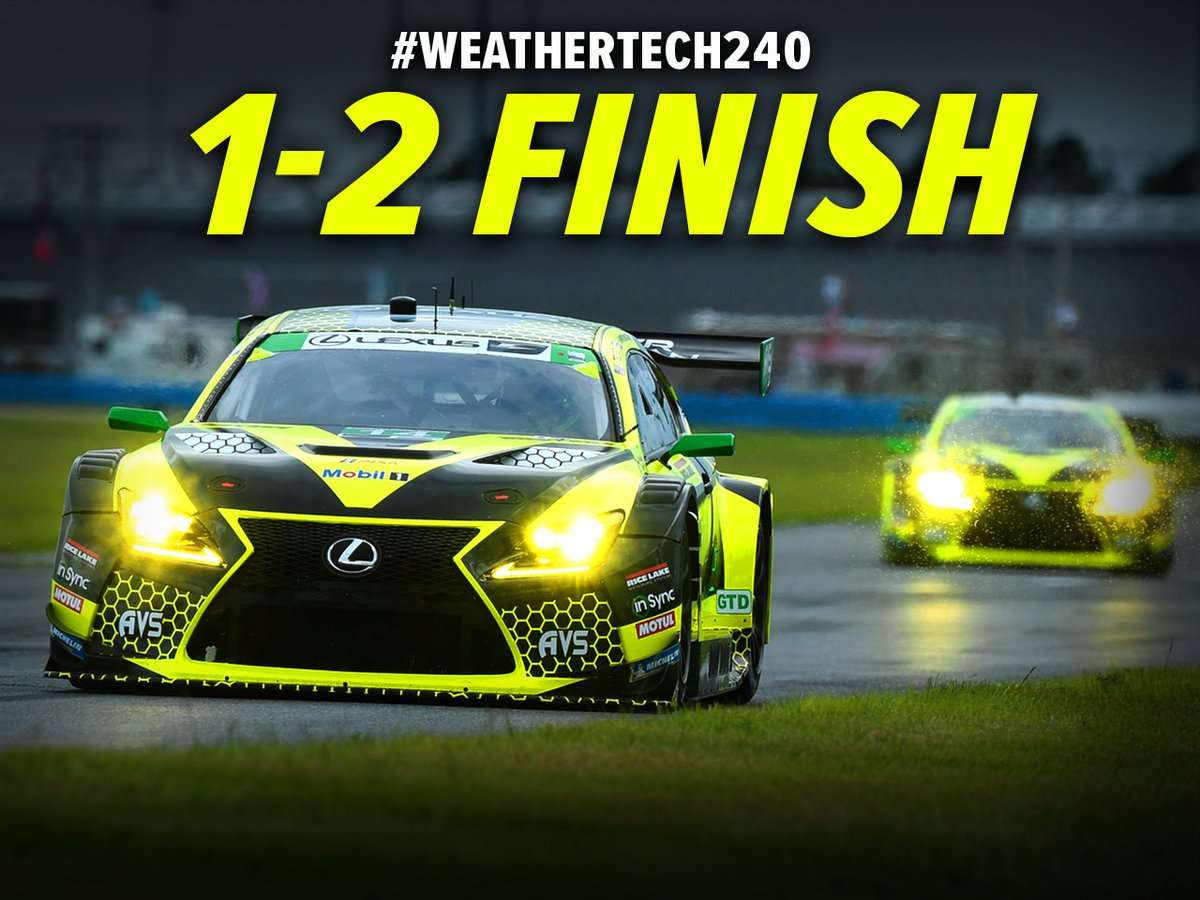 V I C T O R Y  The first ever 1-2 finish for AIM Vasser Sullivan!   #IMSA | #Weathertech240 https://t.co/oST6ODwyFR