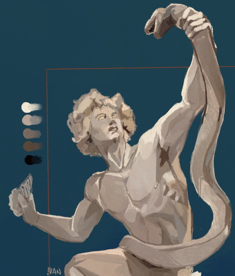 A sculpture study i liked enough to post 🌬 . . . #art #illustration #procreate #GreekMythology #sculpture #drawing #digitalart