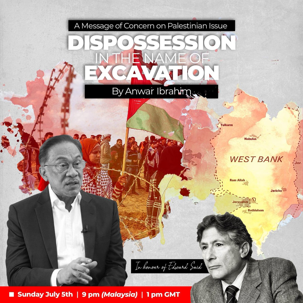 A MESSAGE OF CONCERN - ANWAR IBRAHIM  Continuous breach of human rights and unilateral decision in undermining the Palestinians' self-determination and history persist despite overwhelmed protests worldwide. https://t.co/hBLwrbuEFx