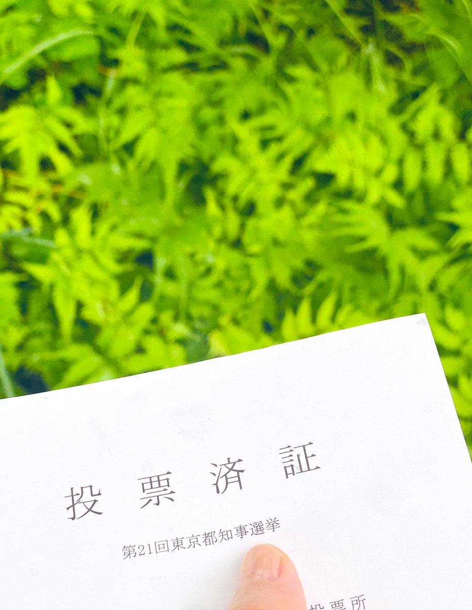 都知事選。投票完了。東京。変えれますように。変われますように。#東京都知事選挙 #新しい東京に