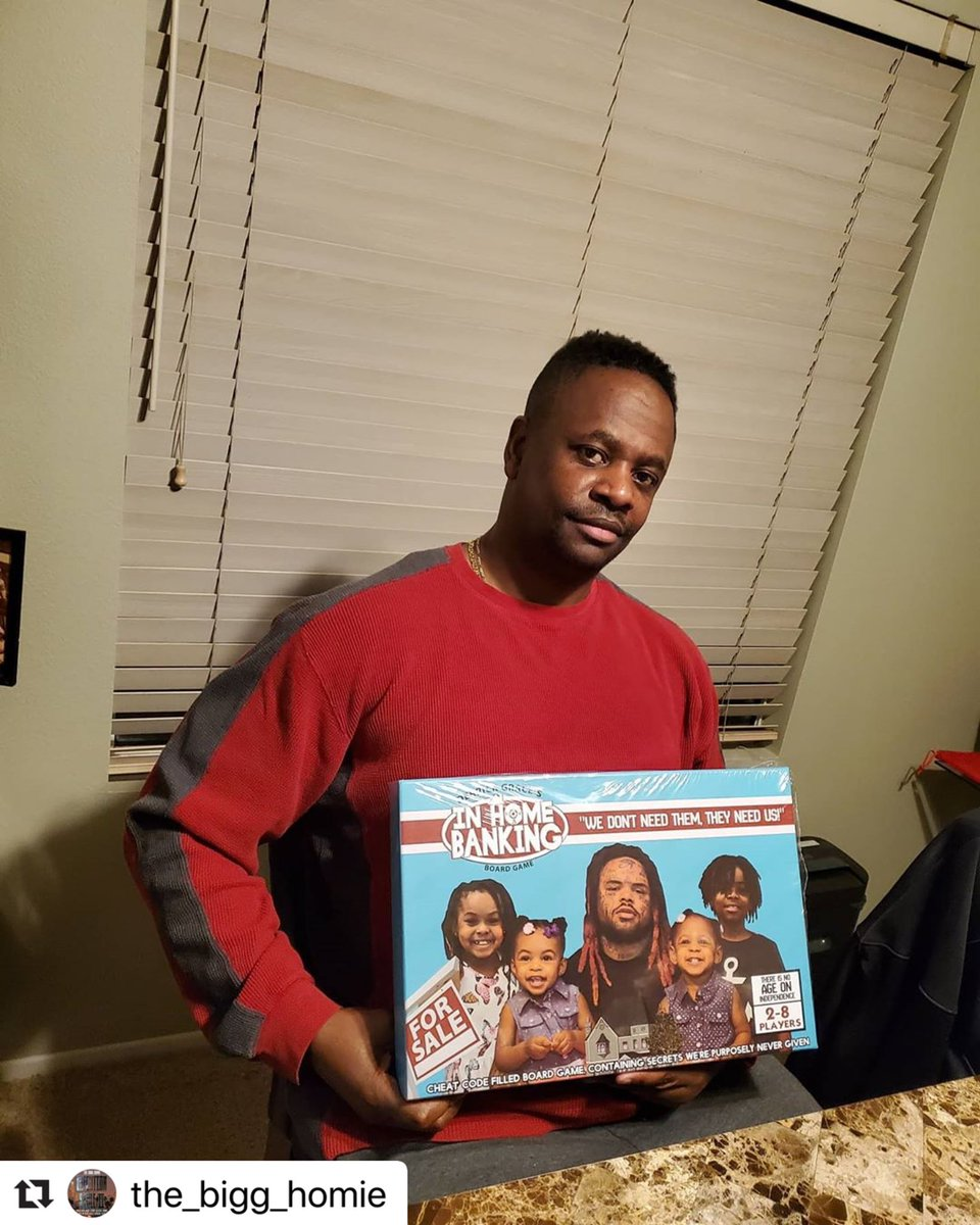 here's the bro @theothersidegee supporting black owned businesses. ・・・ #TheBiggHomie #Support #Black #BlackOwned #Business #Boardgames #InHomeBanking #BLM #Great #Awesome #Game  #LetsGo #GetIt #SupportBlackBusiness #Love #Peace #Love #VMGpic.twitter.com/RX2wKdLsSI
