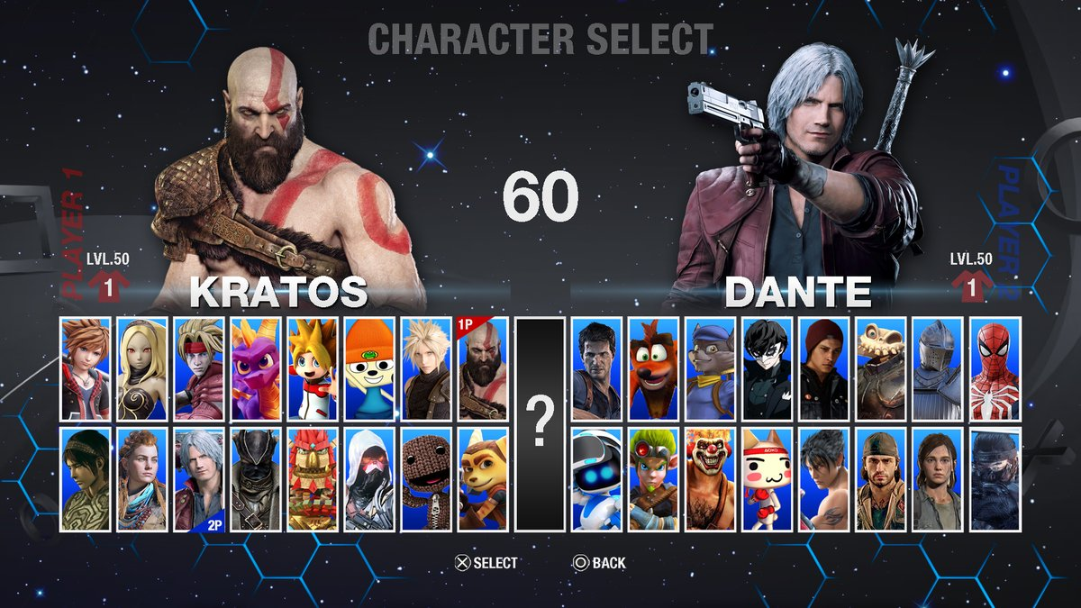 Playstation All-Stars Sequel / Reboot Character Select Concept (Traditional 2D Fighting Game), this concept it´s inspired by games like Street Fighter, Tekken, and such #PlayStation #AllStarsRound2 #PlayStationAllStars2 #PlaystationAllStars #25YearsOfPlay #PS5 #PlayStation5