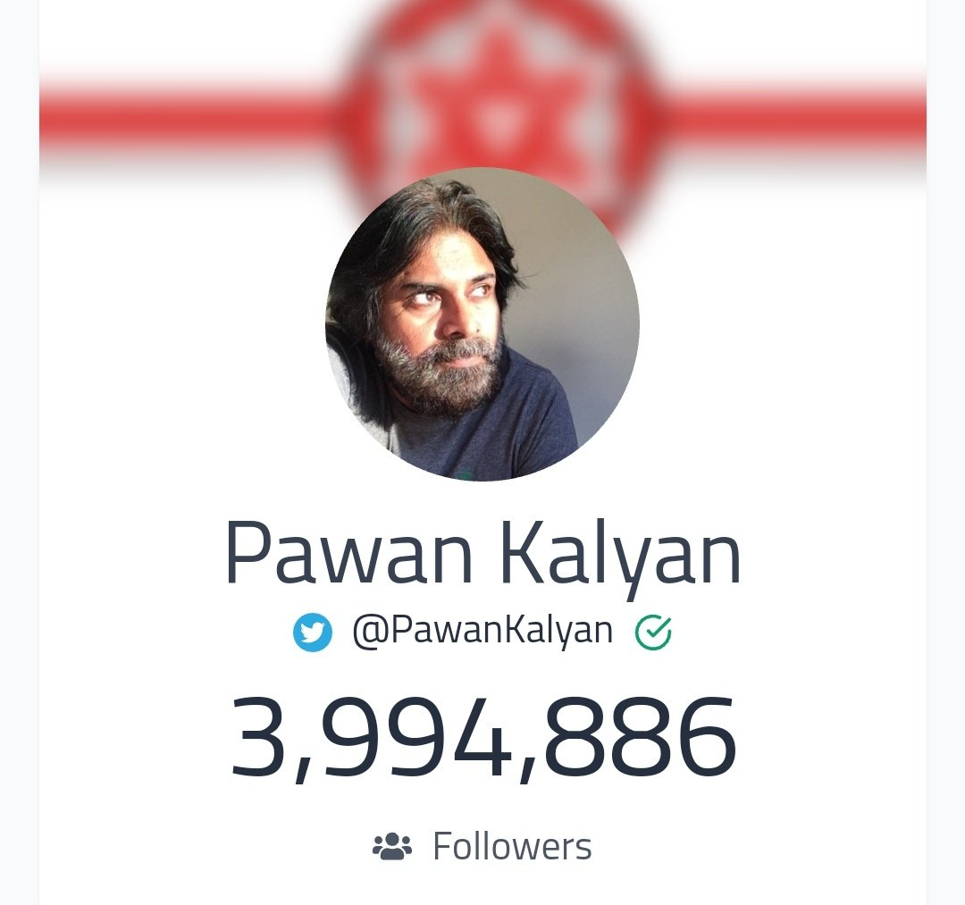 Less than 5.2K followers need to reach 4 Million milestone.  Mention @PawanKalyan in all Tweets.  #VakeelSaab | #PawanKalyan https://t.co/boTWnvnMQt https://t.co/pEN7Xt2tIc