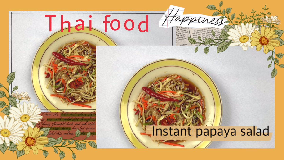 EP.5 Thai food: papaya salad/somtam thai/spicy 📺 full VDO link below 👇👇👇👇👇👇👇  https://t.co/ytu6jUN2D9  🙏Please do subscribe, like and share our youtube channel  🍀🌈 THANK YOU ❤🙇   https://t.co/JvAz5oqMF9  #thaistuff #stuff #thaifood #Thailand #youtubechannel #salad https://t.co/UfS77IAphp