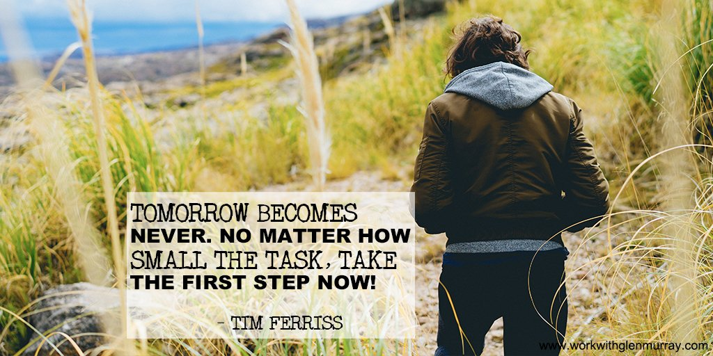 Tomorrow becomes never. No matter how small the task, take the first step now! – Tim Ferriss     #tomorrow #firststep #loa networkmarketing affiliatemarketing #makemoneyonline entrepreneur #business motivation success #money #financialfreedompic.twitter.com/XGI8lfrUdF