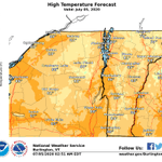 Image for the Tweet beginning: Here's a look at forecast