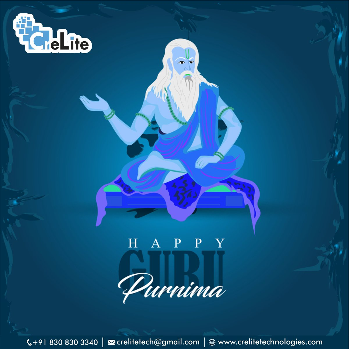 This day recalled our mentor who sacrifices their life to enlighten us from great wisdom and knowledge.  Happy Guru Purnima! . Tag Begins#GuruPurnima #HappyGuruPurnima #GuruPurnima2020 #CreliteTechnologies #DigitalMarketing #ContentMarketing #SocialMediaMarketing #marketingpic.twitter.com/b49259hpyY