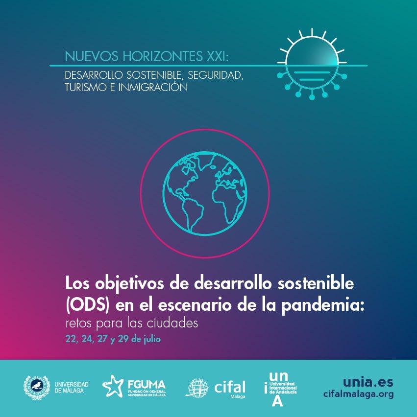 #NuevosHorizontes | Analizamos los cambios en la sociedad en materia de #turismo, #seguridad, #migración y #sostenibilidad durante la pandemia #COVID19  Dos modalidades: certificado de asistencia (general 40€ alumnado UMA 20€) o gratuita como oyente https://t.co/SfSwVjqQjE https://t.co/CV8lI3v9fP