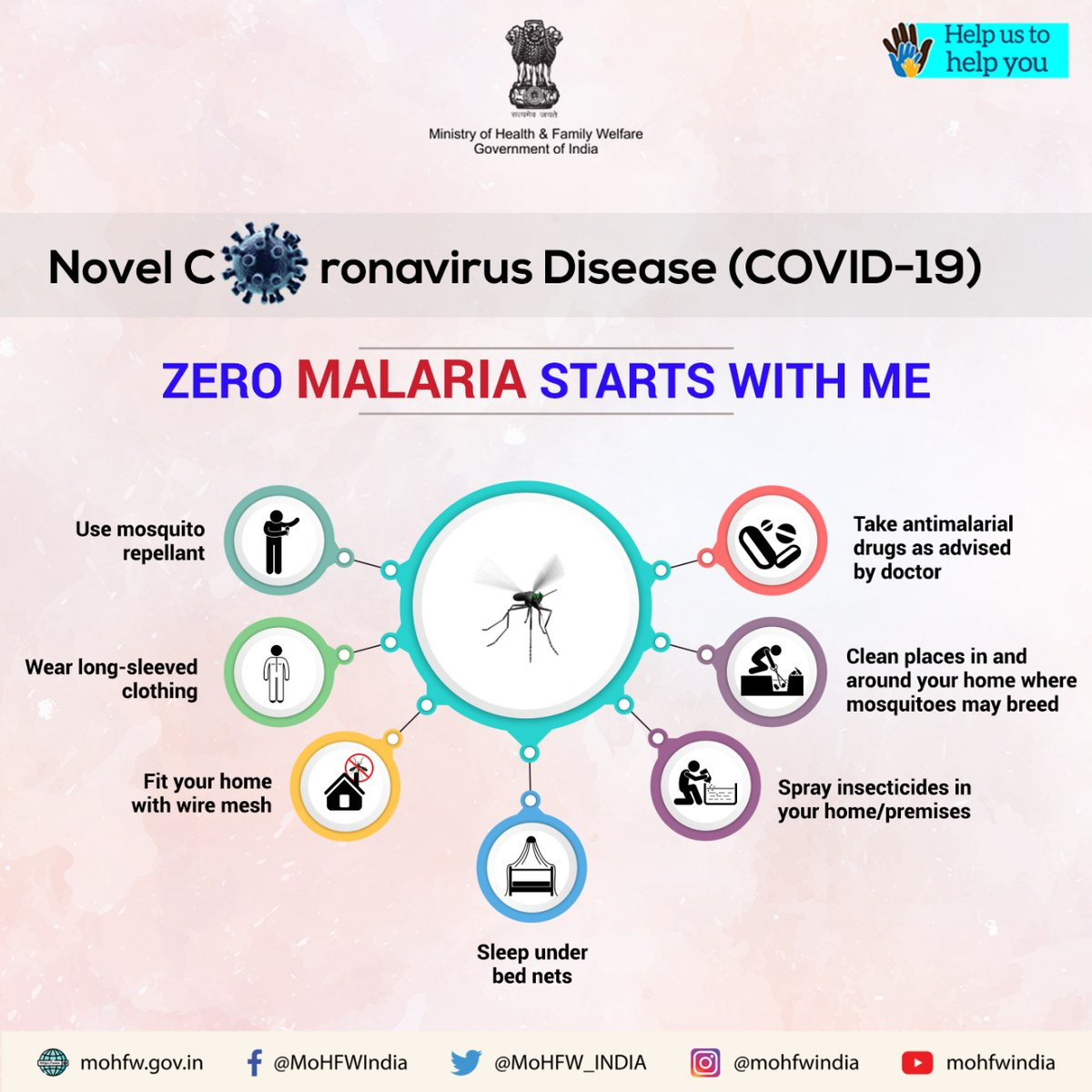 Malaria can also attack in times of #COVID19. Take ample precautions to stay protected from #Malaria. Lets #BeatMalaria with these easy-to-follow methods. Know more: nvbdcp.gov.in/malaria11.html  #SwasthaBharat #HealthForAll #IndiaFightsCorona #TogetherAgainstCovid19