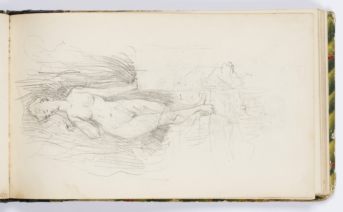 Sketchbook Page: Nude Female Figure, Kenyon Cox, 1875 https://t.co/v7AlnMZ2Mt #kenyoncox #openaccess https://t.co/TrPBHdT7fA