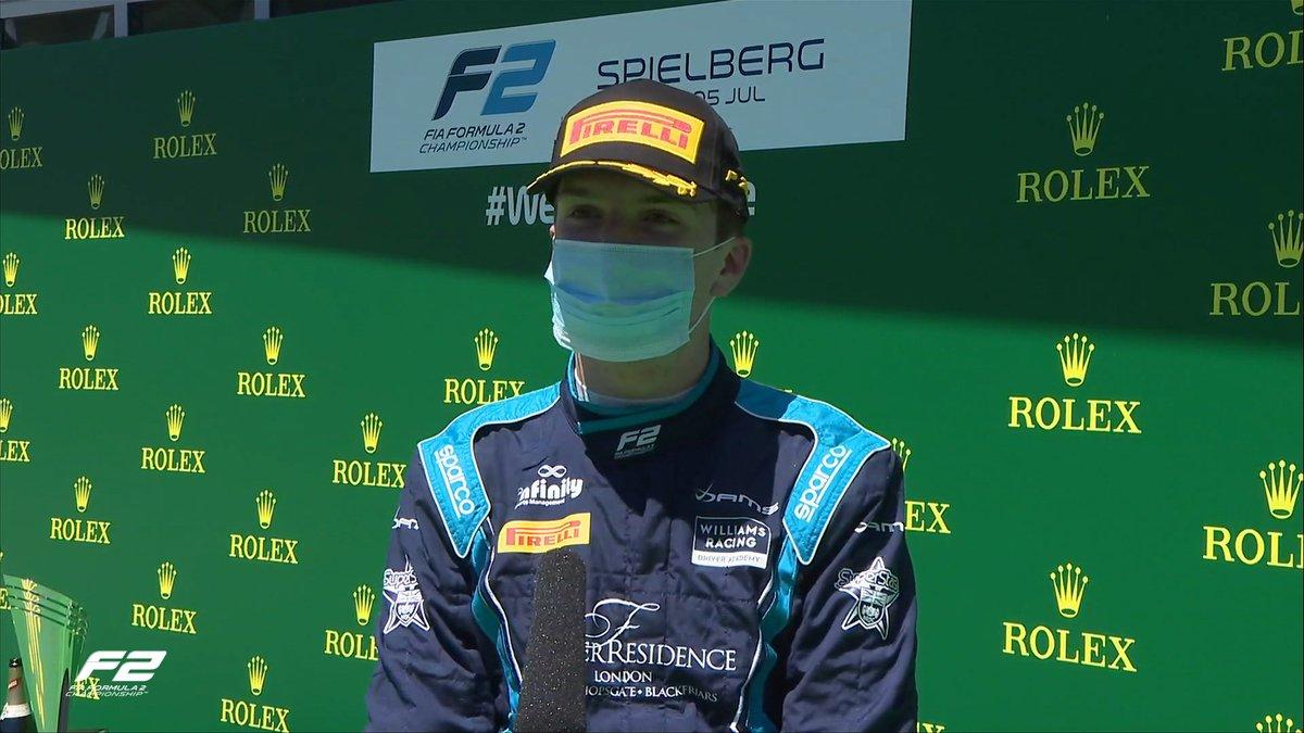Congrats to Williams Academy driver @DanTicktum on his maiden @FIA_F2 podium 👏  #AustrianGP 🇦🇹 | #WeAreWilliams 💙