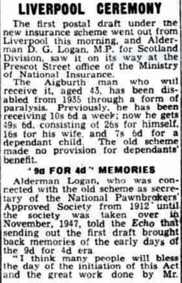 #NHS72 'First Day of health Scheme' - Liverpool Echo - Monday 05 July 1948 via @BNArchive