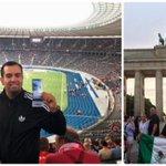 Image for the Tweet beginning: Hertha-Fans sind überall – so