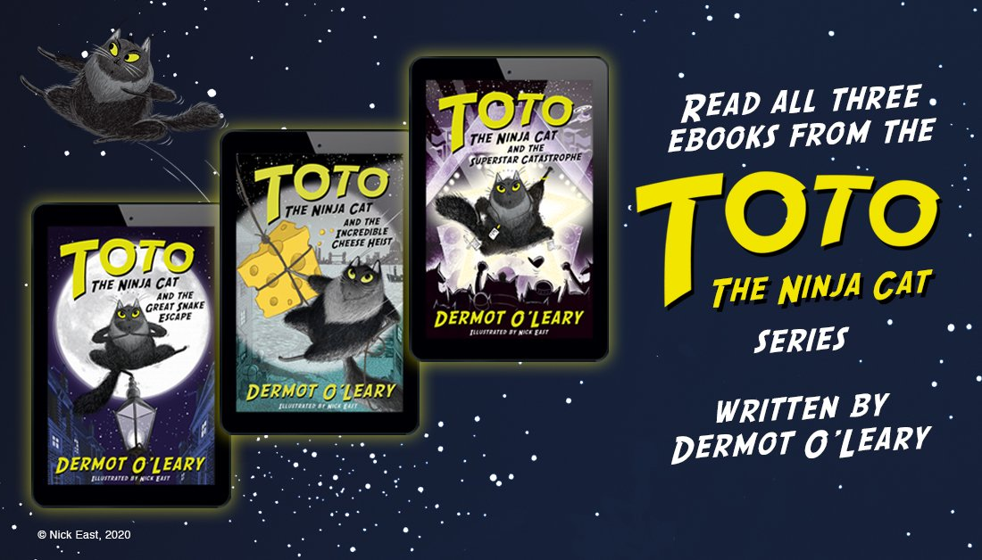 Looking for a PAWsome new series to read this summer? Then download all three ebooks from the Toto the Ninja Cat series written by @radioleary   Book 1: https://fal.cn/38YQd  Book 2: https://fal.cn/38YQc  Book 3: https://fal.cn/38YQb pic.twitter.com/DPmfOsqBRp