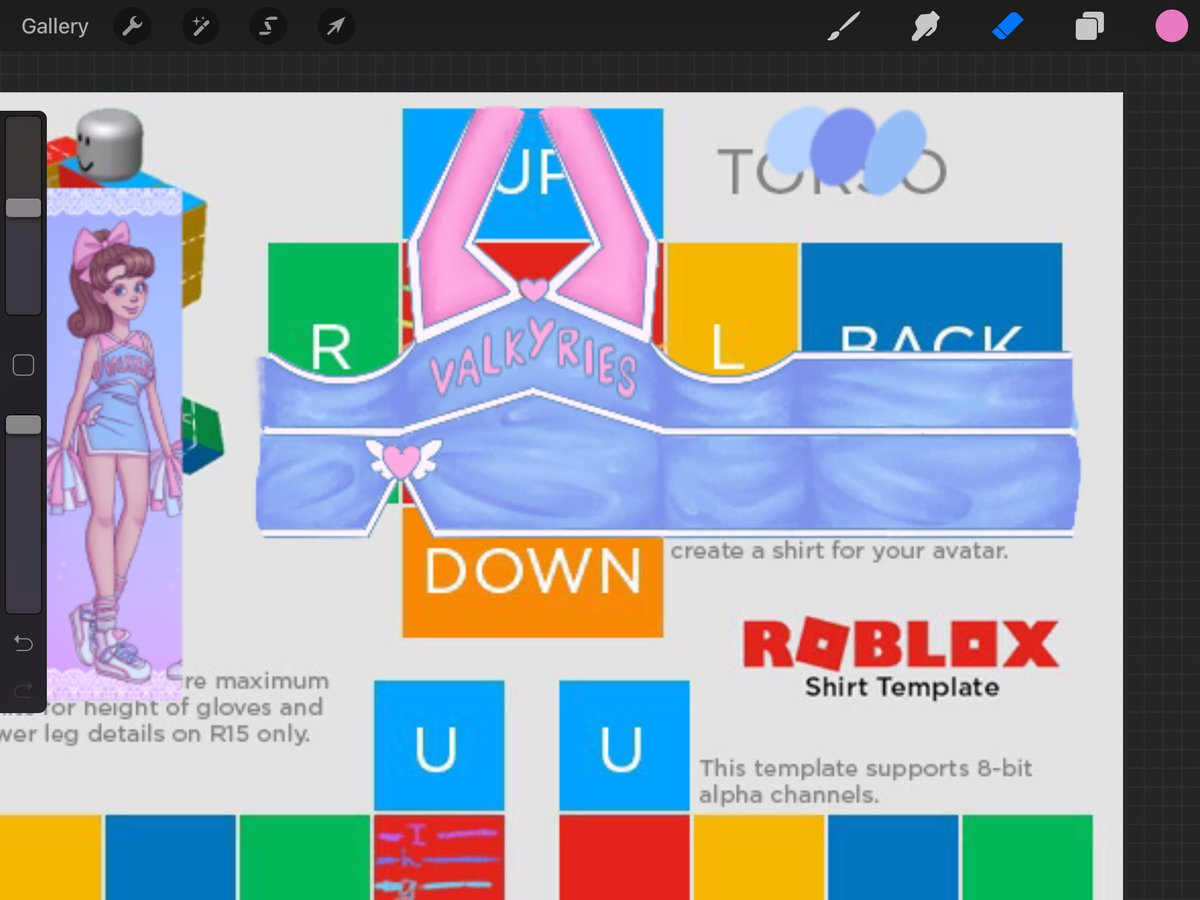 Roblox Cheerleader Outfit Template
