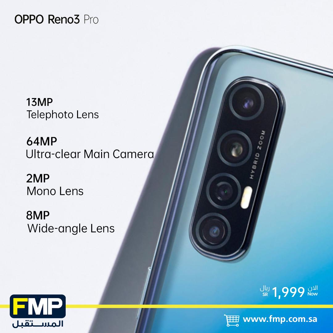 يمتاز جهاز #OPPOReno3Pro بأربع كاميرات خلفية تمكنك من التقاط صور رائعة أوضح و أوسع و أقرب مما تتخيل !  تسوق الان من خلال متجرنا الالكتروني مع توصيل مجاناً اشتر الان : https://rb.gy/bdxyhnpic.twitter.com/xLhakw208Q