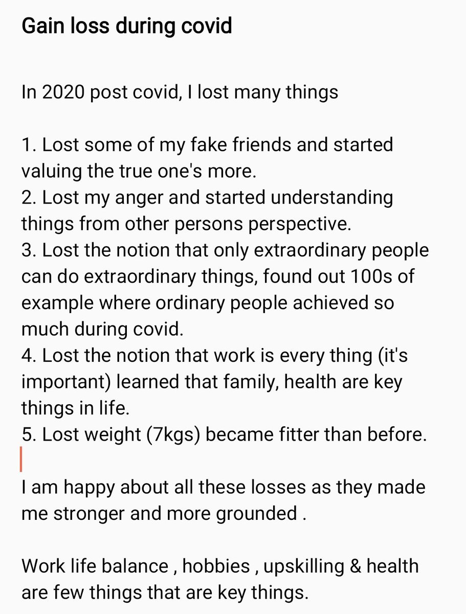 I lost many things post covid a small note...  #contentmarketing #DigitalMarketing #SEO #blogging #marketing #branding  #socialmedia #business #quotes #innovation #motivation #AI #Leadership #writers #WritingCommunity #Human #Management #Career #Happiness #Purpose #ceo #hr https://t.co/aFBBORgIdD
