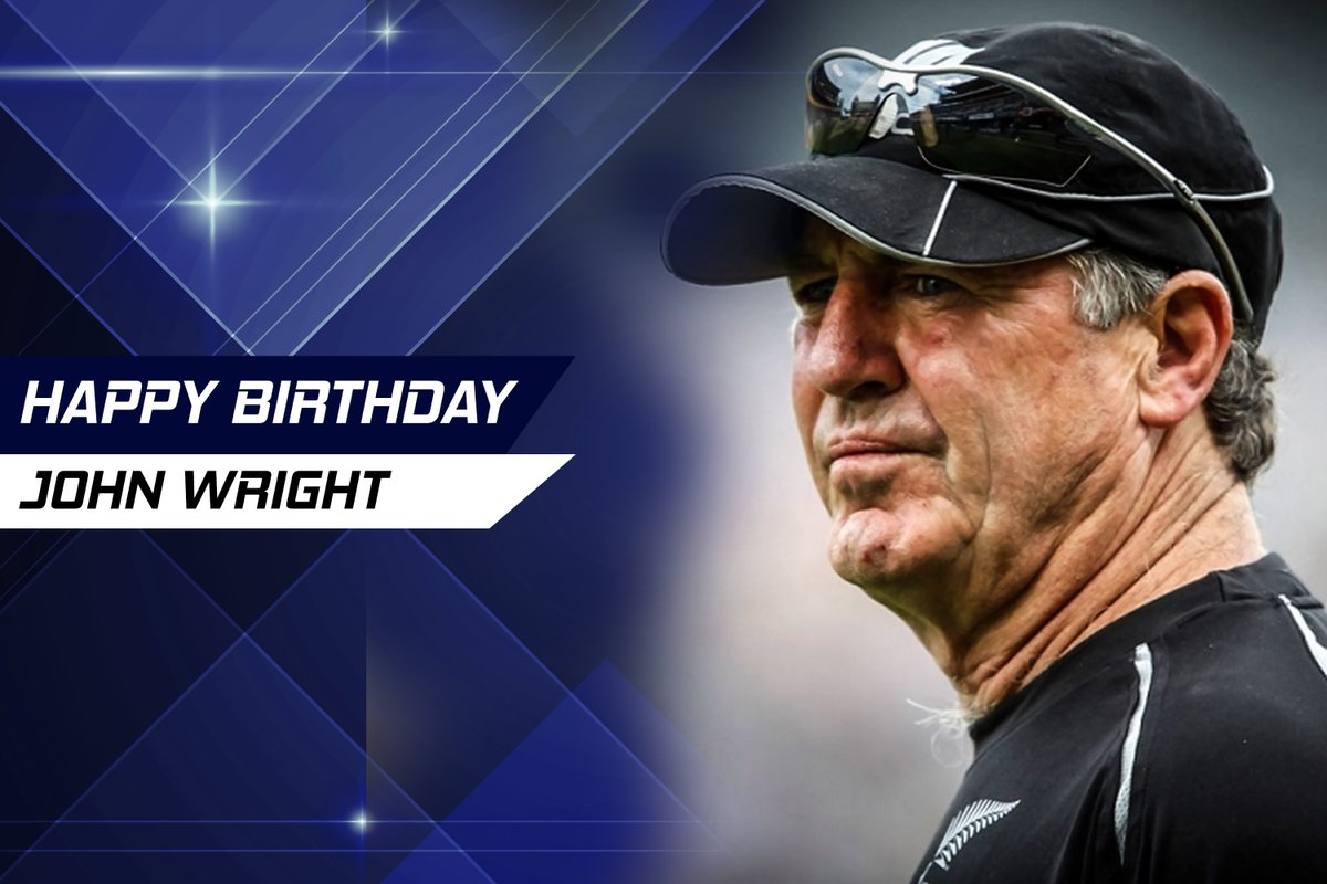 Wishing the happiest birthday to you! John Wright  On his Test debut, he batted nearly 6 hours for 55, a vital innings in the Kiwis' first victory over England at the 48th attempt.   Wright averaged 61 against India, who he coached for nearly five years.   #HappyBirthdaypic.twitter.com/kuPGWmOB4n