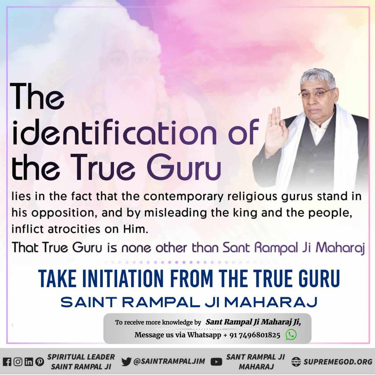 #GuruPurnima Satguru creates a clean society with his true knowledge. A hypocritical, drug-free, dowry-free, corruption-free society is being prepared under the leadership of Sant Rampal Ji Maharaj. #JagatGuru_SaintRampalJipic.twitter.com/ahMeTTk30y