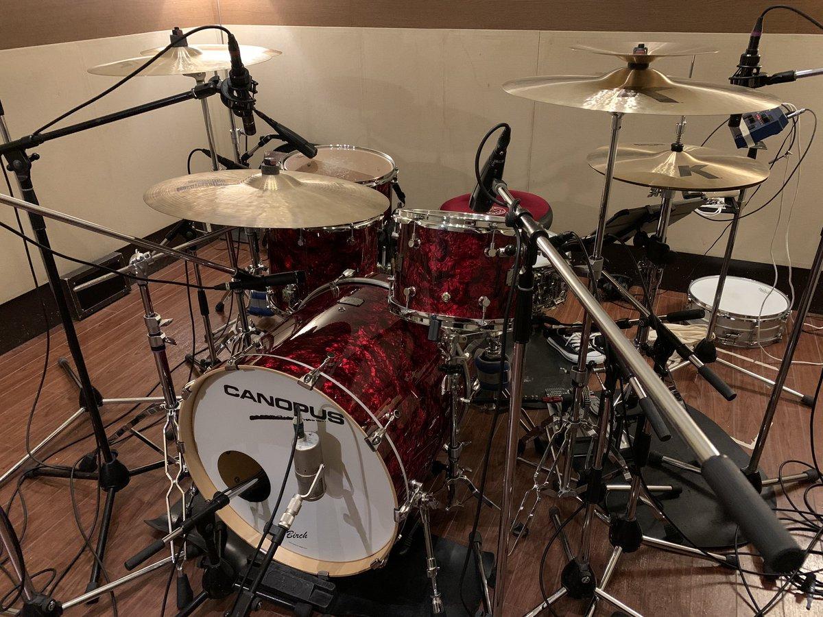レコーディングでしたー! 完成が楽しみ! #CANOPUS #Zildjian  #LERNI https://t.co/Ec4pFQFO4j