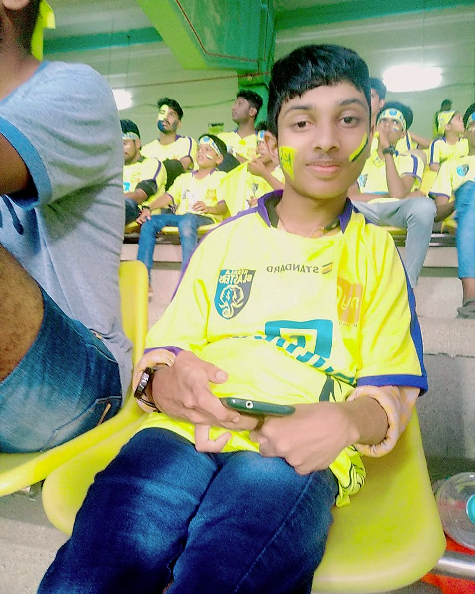 I have been following the club since the first season because it belongs to Kerala – my home state. With the help of my brothers and friends, we try and visit the stadium for almost all matches and activations of the club.