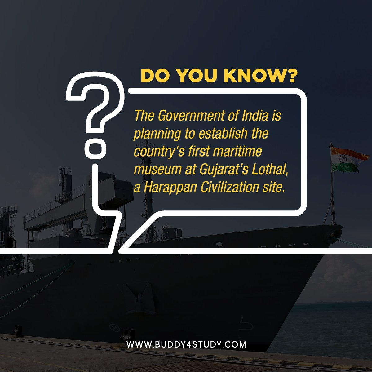 Apart from the museum, there will be a maritime theme park, intended to give visitors an immersive experience of India's maritime heritage through the ancient, medieval, colonial, and modern ages. #doyouknow pic.twitter.com/3hSiFYWZ7c
