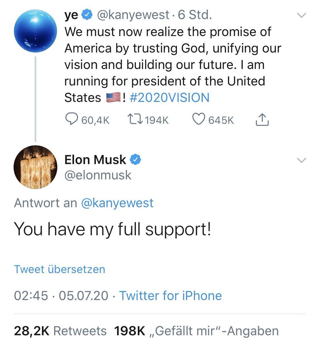 """Alle: """"Schlimmer kann 2020 nicht mehr werden."""" Kanye: """"Hold my beer."""" Elon: """"Take my Tesla."""" https://t.co/h6o7zVjkbX"""
