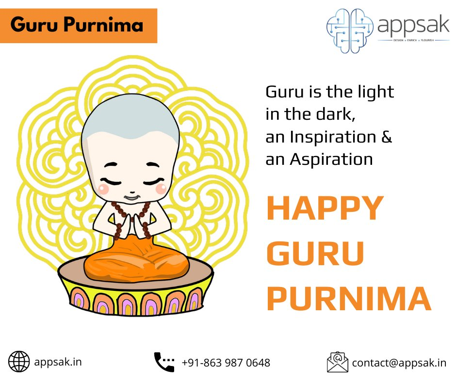 #GuruPurnima is the day you reflect on your #life and #honour the #wisdom that life has offered! #happygurupurnima #guru #teacher #gurupurnima2020 #appsak #india #HyderabadStartups