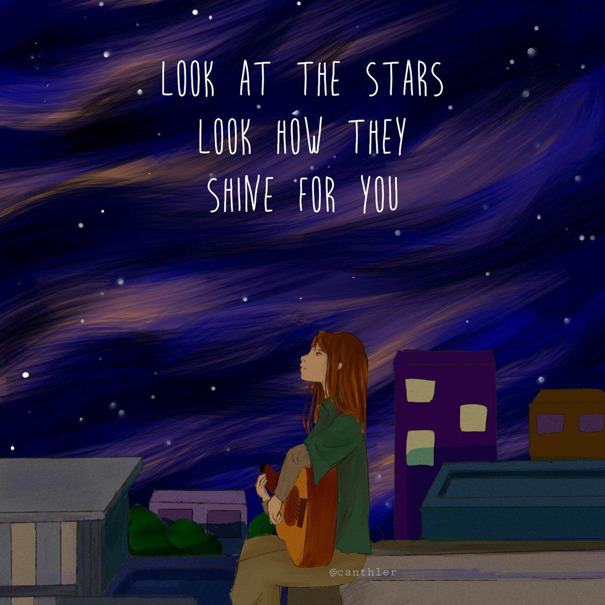Look at the stars look how they shine for you ✨ • • #stars #starrysky #sky #star #starrynight #lockscreen #yellow #coldplay #quotes #illustration #digi #digitaldrawing #digital_art #art #artwork #illust #instaart #digitalillustration #artoftheday #artworks #myart https://t.co/hIqVdG5DwJ