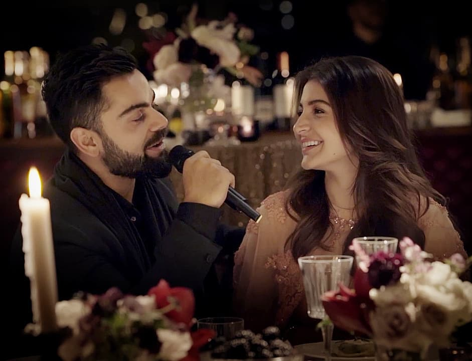 """""""Anushka has given me a new lease on life. I was not the most understanding or balanced person before I met her. She has inspired me to be a better human being and I feel blessed to spend my life with the most amazing woman I know.""""  - Virat Kohli. <br>http://pic.twitter.com/mevGPksMu4"""