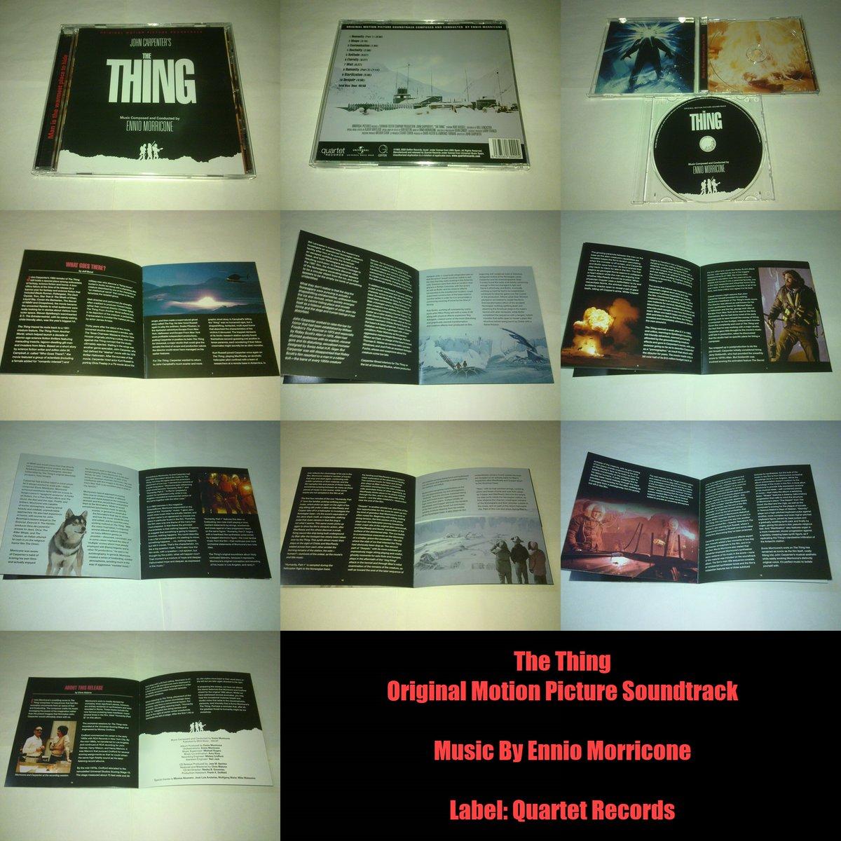 #แกะซีดี THE THING Original Motion Picture Soundtrack #EnnioMorricone | #soundtrack #cdcollection #reissue #remastered #JohnCarpenter #ไอ้ตัวเขมือบโลกpic.twitter.com/yT7SaTN89C